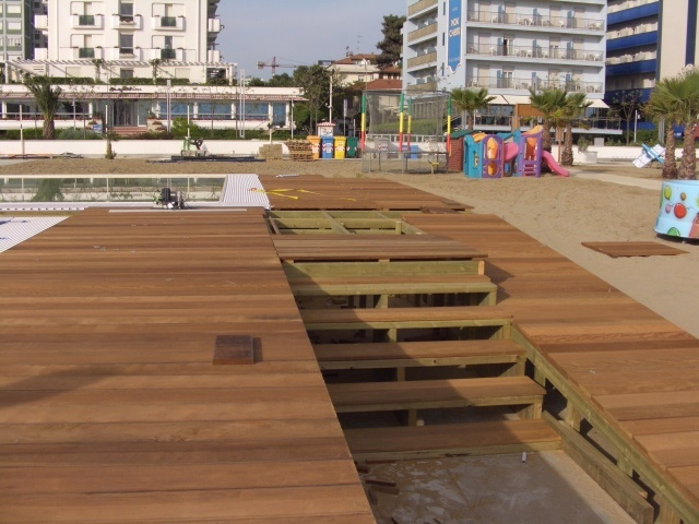 Estremamente Passerelle in legno, camminamenti da spiaggia | De Biagi & Magi  ZF24